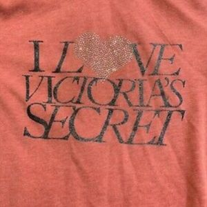 "Victoria Secret ""I Love V.S. Hoodie""  Size Small"